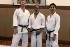 avec John-Teramoto (Godan SKA) et Shinichi Yamada (Godan Japon)
